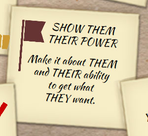 To get more clients, show them their power